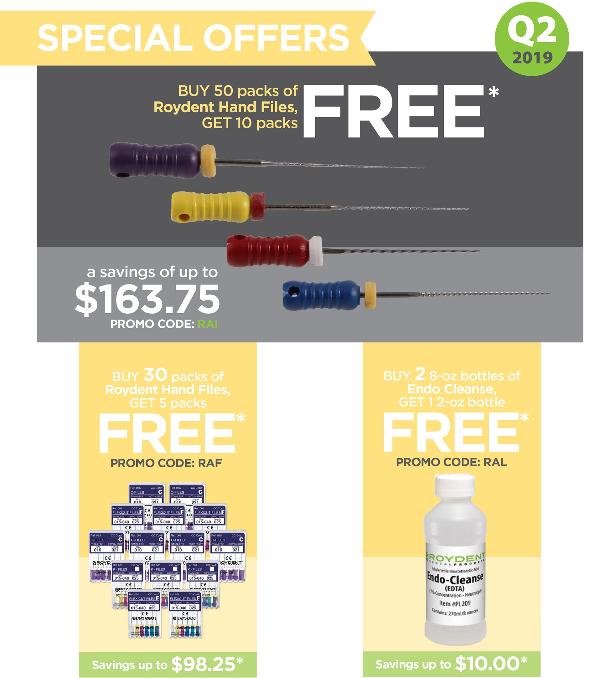 Roydent Dental Products Quarterly Promotions